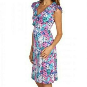 Lilly Pulitzer Bright Navy Dot Hop Clare dress